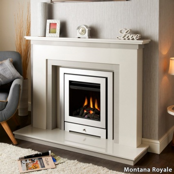 Crystal Fires Royale 3 Sided Gas Fire